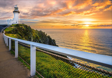 Sunrise At Cape Byron. Horizon...