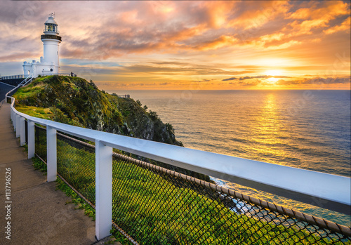 plakat Sunrise at Cape Byron. Horizontal Frame.