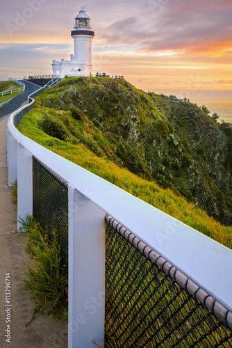 Fotomural Sunrise at Cape Byron. Vertical Frame.