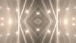Background gold motion with fractal design. Disco spectrum lights concert spot bulb. Light Tunnel.