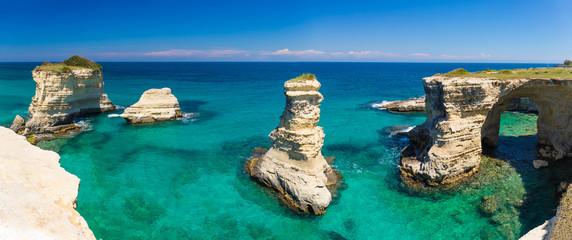Torre Sant Andrea cliffs, Salento peninsula, Apulia region, South of Italy