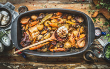 Stew With Roasted Vegetables, ...