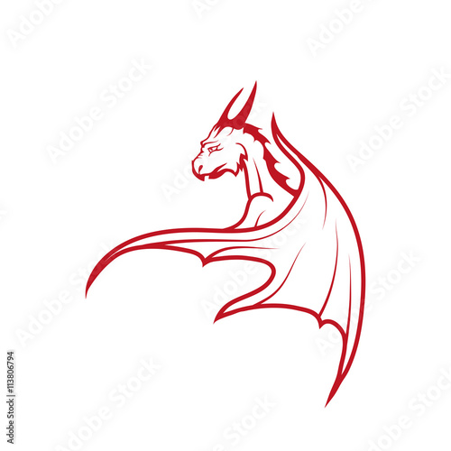 Fototapeta  red dragon logo