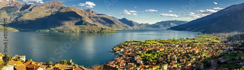 Photographie Gravedona and Lago di Como high definition panorama