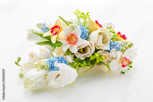 obraz dibond Beautiful spring flower bouquet