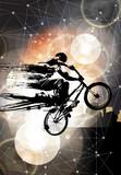 Fototapeta Teenage - Extreme sport, bmx rider