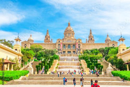 Photo  National Museum in Barcelona, Placa De Espanya, Spain.