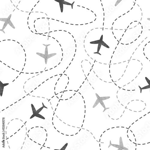 bezszwowy-wzor-z-akwarela-samolotami-podrozuj-po-swiecie-koncepcji-tlo-wektor