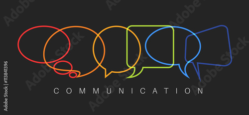 Photo  Vector abstract Communication concept illustration