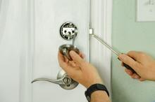Closeup Of A Professional Lock...