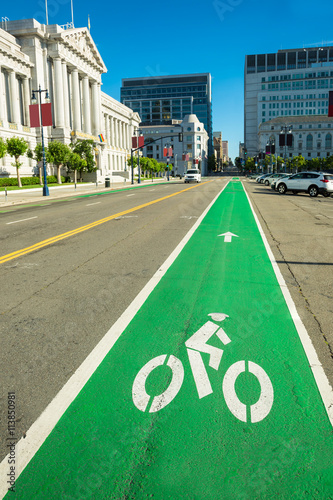 Bike lane Wallpaper Mural