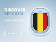 Flight To Belgium Traveling Th...