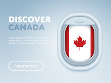 Flight To Canada Traveling The...