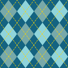 Trendy Blue Argyle Seamless Pa...