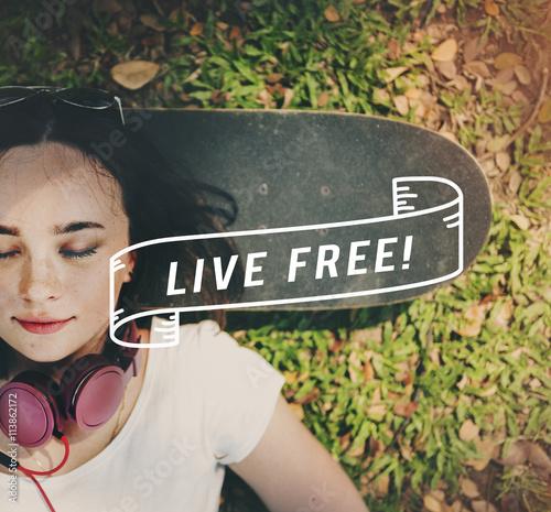 Fotografie, Obraz  Happy Life Feel Good Štěstí živé Concept
