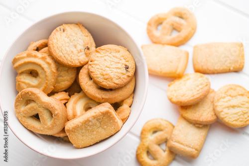 Spoed Foto op Canvas Pizzeria sweet butter biscuits