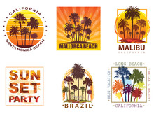 Exotic Travel Backgrounds With Palm Trees