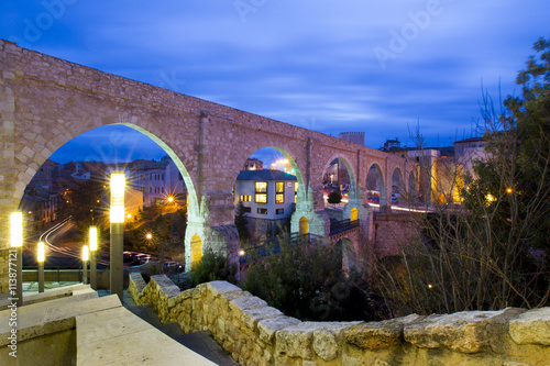 Aqueduct in the city of Teruel, Spain