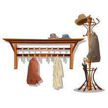 Furniture In Dressing Room, Coat Hooks In Hallway