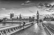 Beautiful black and white view of London, UK