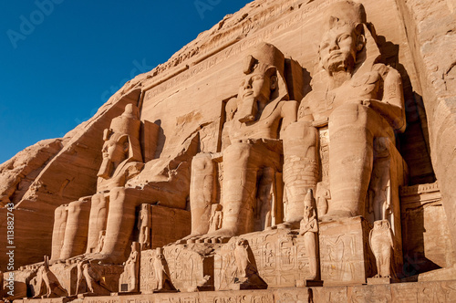 Fotografija  Colossus of The Great Temple of Ramesses II, Abu Simbel, Egypt.