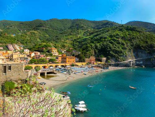 Photographie  The view of Monterosso, Italy