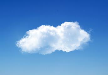 Single cloud in summer sky