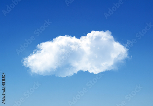 Foto op Canvas Hemel Single cloud in summer sky