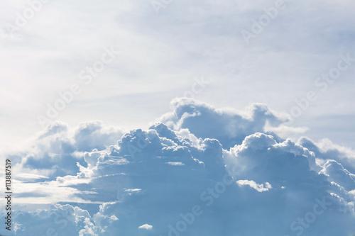 Papiers peints Arctique Blue sky background with tiny clouds