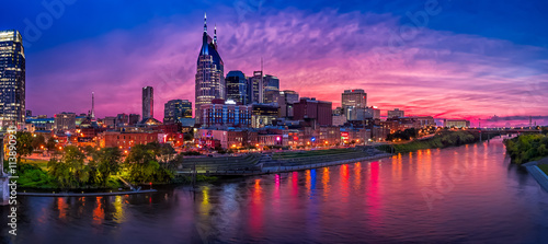 Obraz nashville skyline - fototapety do salonu