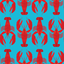Lobsters Colorful Vector Patte...