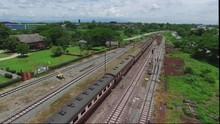 Aerial View Lamphun Train Stat...