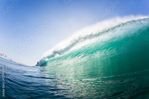 Stickers pour porte Eau Wave Swimming