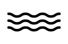 Ocean Sea Water Line Art Icon ...