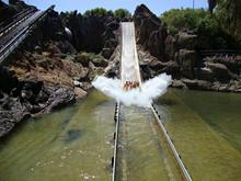 Water Ride At The Amusement Pa...