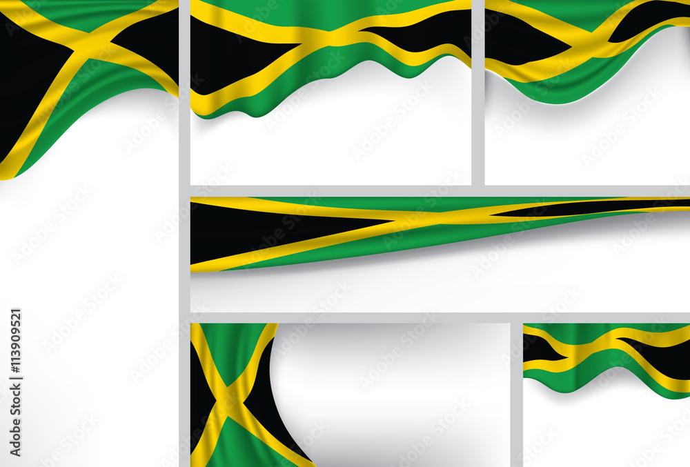 Fotografía Vector Jamaica Flag, Jamaican Colors (Vector Art ...