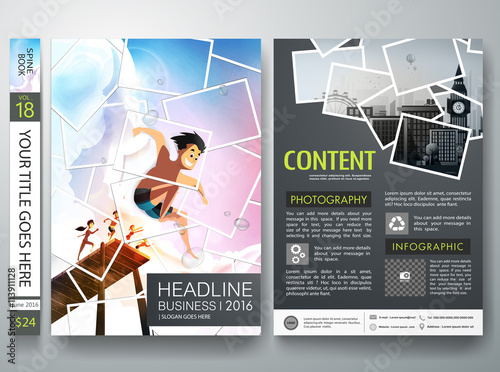 Brochure design template vector Photography flyers business