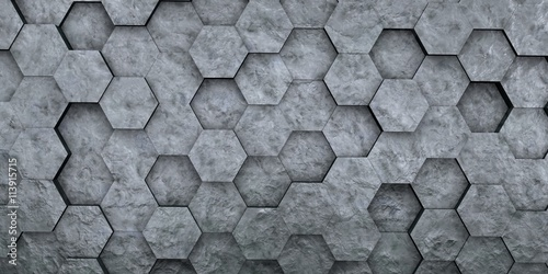 Carta da parati Digital hexagons background