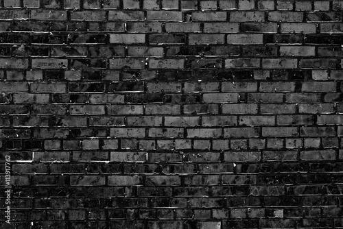 Aluminium Prints Graffiti Brick texture with scratches and cracks