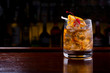 canvas print picture - Old Fashioned Cocktail