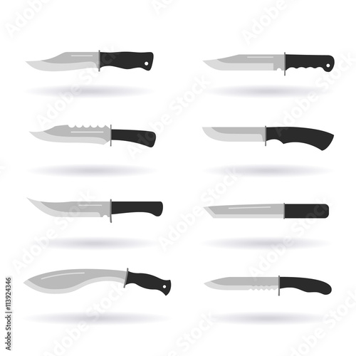 Photo  Army knives collection