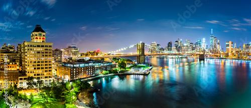 Photo  New York City panorama by night
