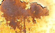 Abstract Rusted Graffiti Metal