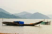 Wooden Boats At Tam Giang Lago...