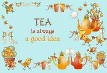 Tea Time. Beautiful Card With ...