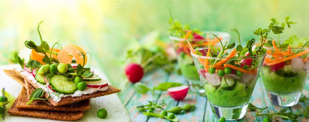 Fototapeta healthy appetizer