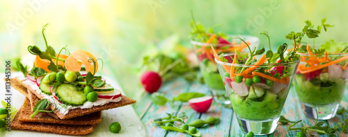 Photo sur Toile Plat cuisine healthy appetizer
