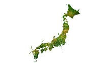 Japan Country Map Detailed Visualisation