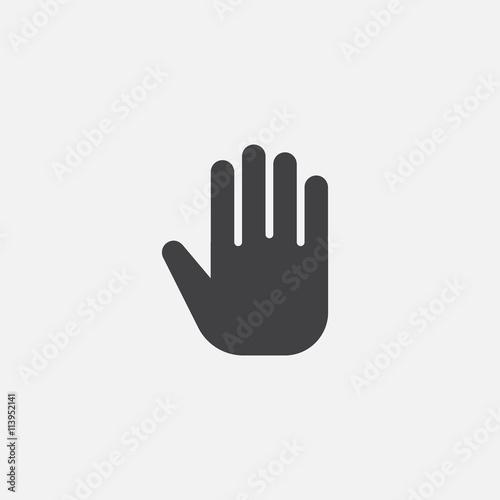 Fototapeta hand icon