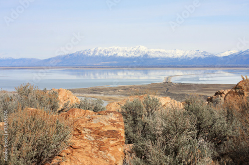 Wasatch Front from Antelope Island